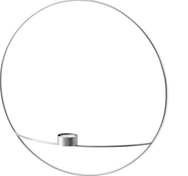 Świecznik POV na tealight 44 cm srebro