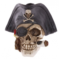 Czaszka pirat w kapeluszu - figurka