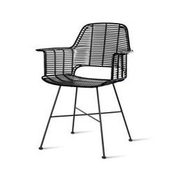 Hkliving :: krzesło ogrodowe tub czarne
