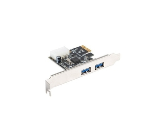 Lanberg karta pci express - usb 3.1 gen1 2-port + śledź low profile