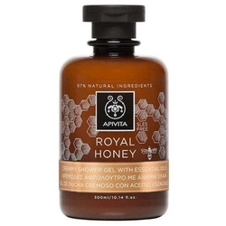 Apivita royal honey kremowy żel pod prysznic z olejkami eterycznymi i miodem tymiankowym 300ml - royal honey