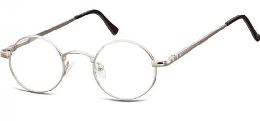 Okulary dziecięce zerówki okrągłe lenonki m5c jasne grafitowe