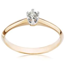 Staviori pierścionek z żółtego i białego złota 0,585 1 diament, szlif brylantowy, masa 0,10 ct., barwa j, czystość i2. szerokość obrączki ok. 1,5 mm.