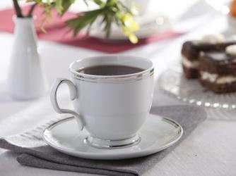 Filiżanka do cappuccino ze spodkiem porcelana mariapaula platynowa linia 350 ml opakowanie prezentowe