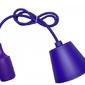 Sufitowa lampka wisząca silikonowa, zwis, loft - fioletowy