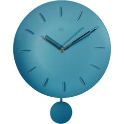 Zegar ścienny z wahadłem Bowl turkusowy nXt 30 cm 7339 TQ