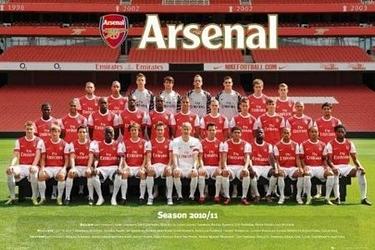 Arsenal team photo 1011 - plakat