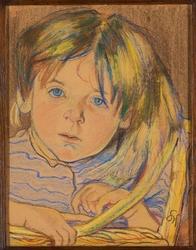 Reprodukcja portret dziecka, stanisław wyspiański
