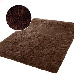 Mięciutki wysoki dywan pluszowy 140x200 plusz brązowy