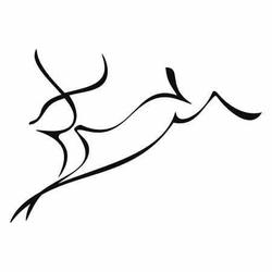 jeleń 17 szablon malarski