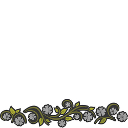 Wieszak ścienny Flowers CalleaDesign oliwkowo-zielony 13-005-54