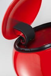Kosz na śmieci czerwony, pedałowy liftmaster 33 litry wesco 186642-02