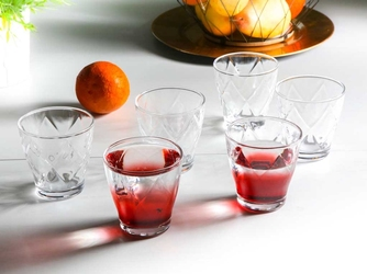 Szklanki do wody, soków i napojów altom design crystal 320 ml, komplet 6 szklanek
