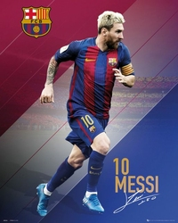 Barcelona Lionel Leo Messi 1617 - plakat