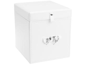 Duża szkatułka biała z 3 albumami pamiątka prezent na ślub rocznicę dedykacja