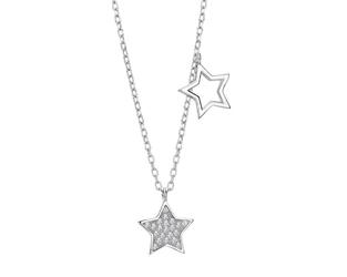 Naszyjnik gwiazdki srebro 925 z cyrkoniami