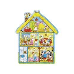 Domek na farmie drewniane puzzle