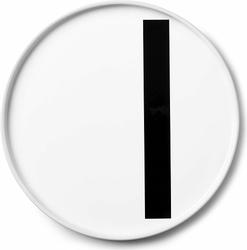 Talerz porcelanowy AJ litera I