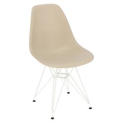 Krzesło p016 pp white beżowe - beżowy