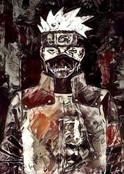 Legends of bedlam - kakashi, naruto - plakat wymiar do wyboru: 60x80 cm