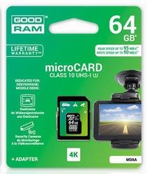 Karta pamięci micro sdxc 64gb goodram klasa 10 uhs-i u3 m3aa-0640r11 95 mbs  90 mbs