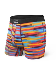 Bokserki męskie saxx undercover boxer br fly red reflective stripe - wielokolorowy