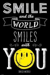 Smiley świat uśmiecha się do ciebie - plakat