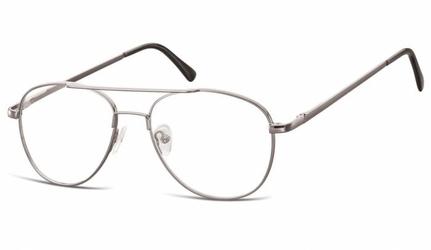 Okulary oprawki dziecięce zerówki pilotki mk3-47b srebrne