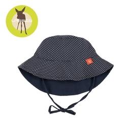Lassig kapelusz dwustronny polka dots navy uv 50+