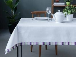 Obrus na stół altom design fioletowa kratka 130 x 160 cm