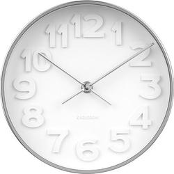 Zegar ścienny stout chrom