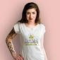Mama królowa domu t-shirt damski biały xxl