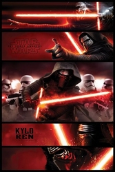Star wars the force awakens kylo ren - plakat
