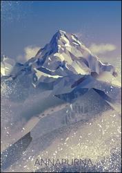 Annapurna - plakat wymiar do wyboru: 42x59,4 cm