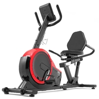 Rower poziomy hs-060l pulse czerwony - hop sport