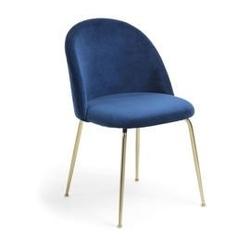 Tapicerowane krzesło warnaga niebieskie