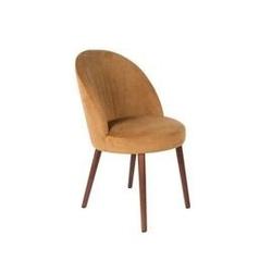 Dutchbone :: krzesło tapicerowane barbara brązowe