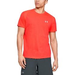 Koszulka męska under armour streaker 2.0 shortsleeve - czerwony