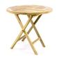 Divero stół ogrodowy stół składany stół wysokiej jakości drewno tekowe ø80cm