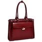 Skórzana torba damska na laptopa 15,4 mcklein winnetka 94836 czerwona - czerwony