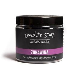 Żurawina w czekoladzie - owocowa przekąska w czekoladzie deserowej 120g, 100 naturalnych składników, draże na bazie czekolady rzemieślniczej