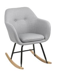 Krzesło bujane emilia szare jasne