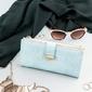 Portfel damski slim wallet niebieski milano design k1211 - błękitny