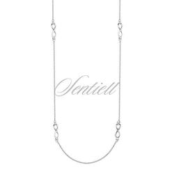 Srebrny naszyjnik pr.925 nieskończoność