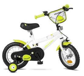 Rower dziecięcy accent monster 12 biało-zielony