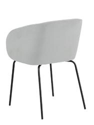 Tapicerowane krzesło na metalowych nogach hven 75