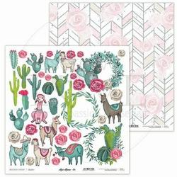 Papier do scrapbookingu Love Llama 30,5x30,5 cm - 06 - 06