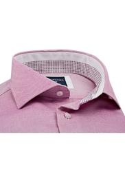 Elegancka koszula męska różowa slim fit 37