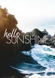 Hello sunshine - plakat  A4