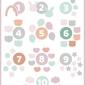 Słodkie liczby różowe - plakat wymiar do wyboru: 40x50 cm